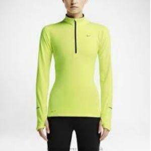 NIKE Running Half Zip Neon Yellow Sweatshirt